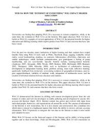 Web Evolution Journal Paper for Thesis