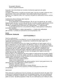 Appunti sbobinati di Diritto Costituzionale II Dellavalle - Luther