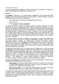 LA SCUOLA IN ITALIA DAL MEDIOEVO AD OGGI