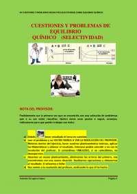 Problemas de equilibrio quimico