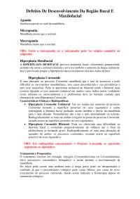 Defeitos De Desenvolvimento Da Região Bucomaxilofacial