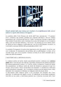 Tesina caso Torreggiani
