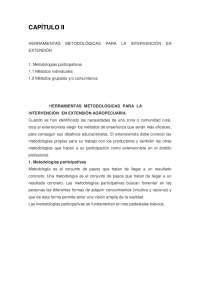 Metodologías de participativas en la Extensión Rural