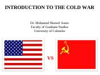 introduction to the cold war