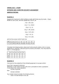 NETWORK AND COMPUTER SECURITY ASSIGNMENT