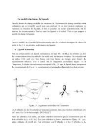 Dans cette dernière ressource relative à la liaison chimique dans les complexes de coordination, le modèle des orbitales moléculaires est décrit.