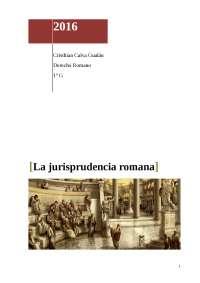 La jurisprudencia Romana