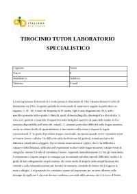 Relazione tirocinio DSA