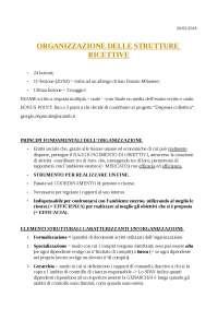 Organizzazione delle Strutture Ricettive