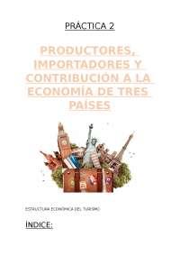 Práctica 2: Estructura económica del turismo