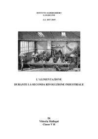tesina sull'alimentazione durante la prima rivoluzione industriale