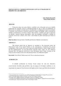 SERVIÇO SOCIAL E MEDIDAS SÓCIO EDUCATIVAS: O TRABALHO NA PERSPECTIVA DE DIREITOS