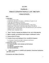 INDIAN CONSTITUTIONAL LAW: THE NEW  CHALLENGES.