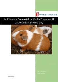 Crianza y comercialización de la carne de cuy