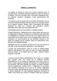 TEMA 6. LA MUERTE Y EL HADES HOMÉRICO