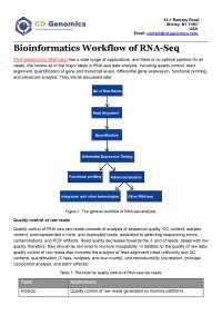 Bioinformatics Workflow of RNA-Seq