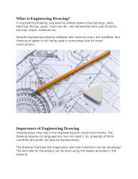 Basic Engineering Drawing - Instruments