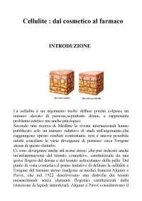 Tesi cellulite cosmesi farmacia