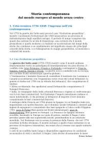 riassunto STORIA CONTEMPORANEA - Caracciolo & Roccucci
