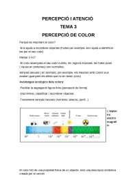 Percepció i atenció Tema 3