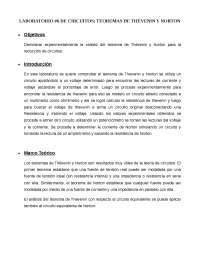 Laboratorio Circuitos eléctricos 1: Teoremas de Thévenin y Norton