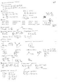 Formulario di Meccanica Razionale e Guida agli esercizi