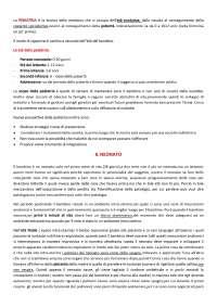 Riassunti pediatria generale - Prof. Simonini e Prof Stagi