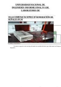 informe de telecomunicaciones, Guías, Proyectos, Investigaciones de Ingeniería de Telecomunicaciones
