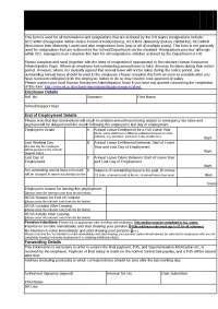 end of employment form