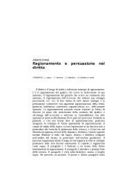 Primo Capitolo Logica e Argomentazione Giuridica Professore Artosi
