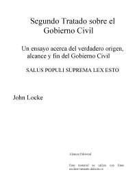 Contractualismo: John Locke