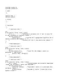 Compito svolto programmazione in C