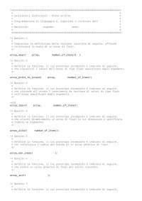 Compito 1- Programmazione in C