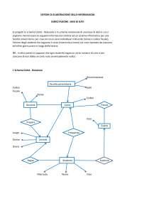 """Elaborato """"basi di dati"""" - Sistemi di elaborazione delle informazioni - ingegneria civile Pegaso"""