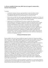Riassunto Neoliberismo internazionale e Global Economic Governance