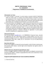 Programma di diritto processuale civile