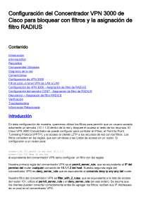 Concentrador de VPN cisco 3000