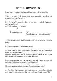 Capitolo 2. Costi di transazione (tradotto in italiano)