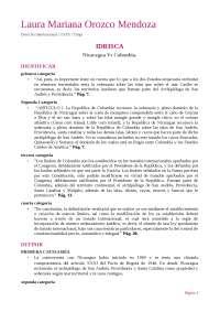 IDRISCA NICARAGUA Vs COLOMBIA