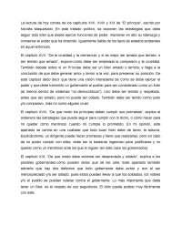 El príncipe, resumen y análisis, capítulos XVII-XIX