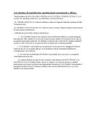 Los sistemas de jurisdicción constitucional concentrada y difusa