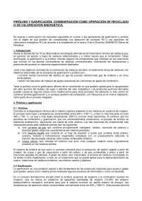 PIRÓLISIS Y GASIFICACIÓN. CONSIDERACIÓN COMO OPERACIÓN DE RECICLADO O DE VALORIZACIÓN ENERGÉTICA.