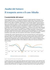 Strategie del settore aereo e caso Alitalia