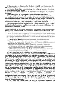 deutsche phraseologie