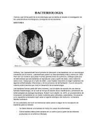 Bacteriología y fundamentos de estudio bioquímico