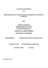 Agricultural Informative System