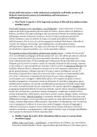 storia dell'educazione e delle istituzioni di Roberto Sani