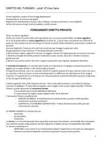 Appunti Diritto del Turismo - prof. D'urso Sara.