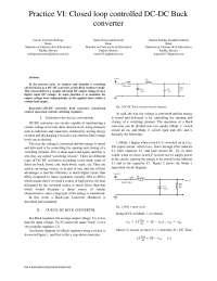 Modelado matemático y simulación de un convertidor DCDC tipo Buck