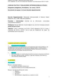 Programa relaciones internacionales